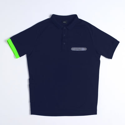 Miles Men's Polo Navy Blue - Small Only