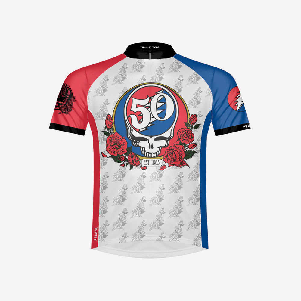 Grateful Dead 50th Anniversary Men's Sport Cut Cycling Jersey