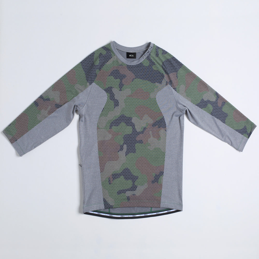 Hodges 3/4 Sleeve Shirt - Micro Camo Light Grey