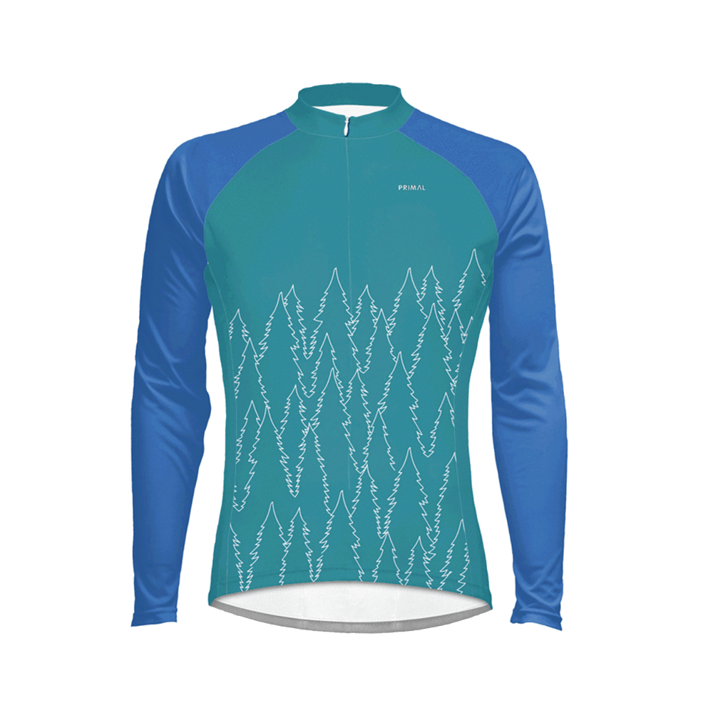 Belford Blue Men's Heavyweight Cycling Jersey