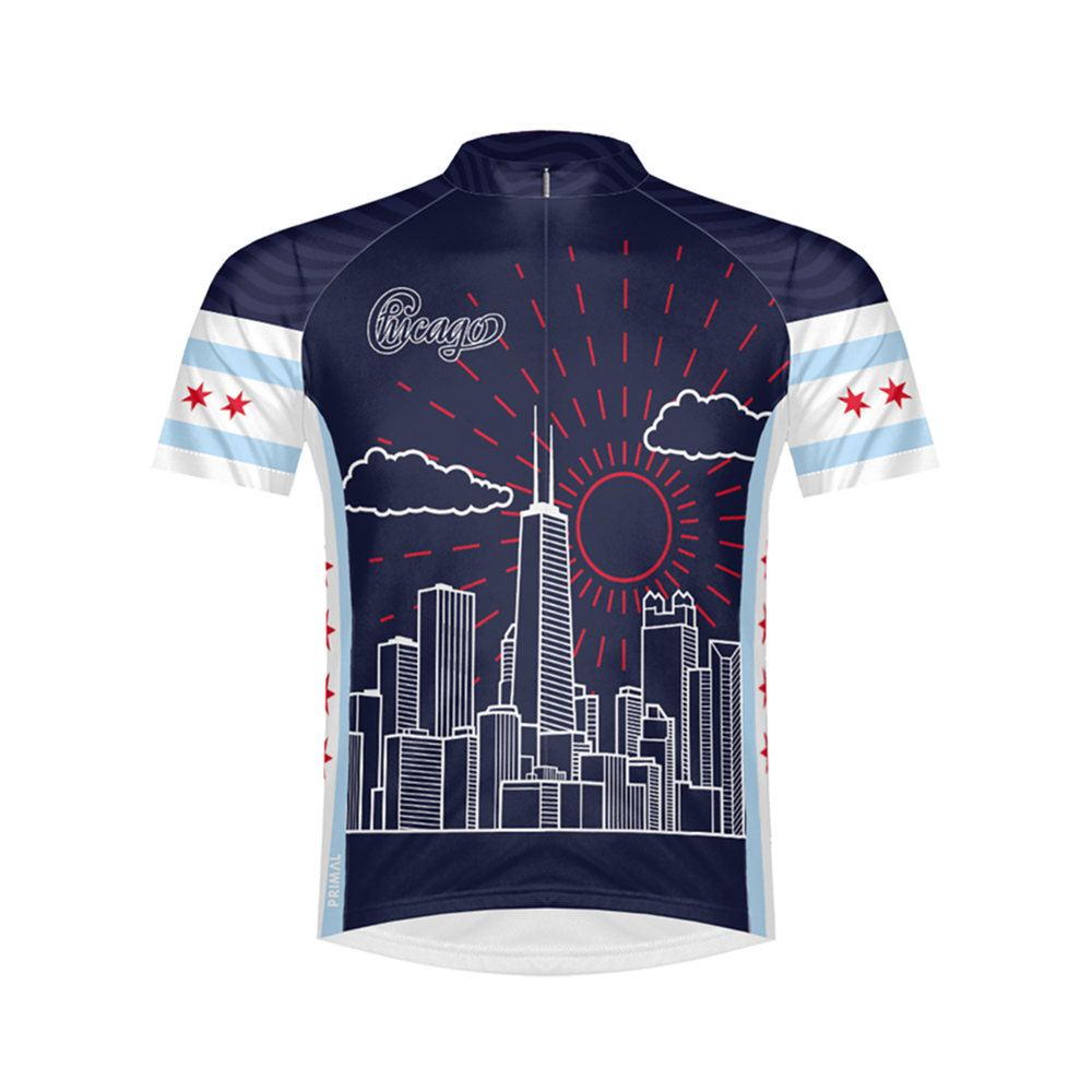 Chi Town Chicago Men's Sport Cut Cycling Jersey