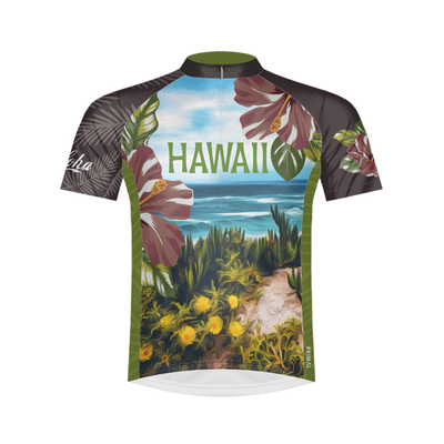 Aloha Hawaii Men's Sport Cut Cycling Jersey