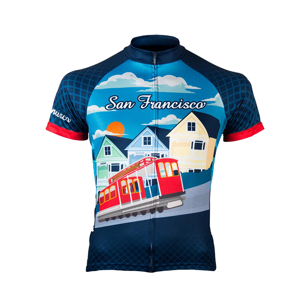 By the Bay San Francisco Men's Sport Cut Cycling Jersey