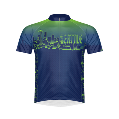 Emerald City Seattle Men's Sport Cut Cycling Jersey
