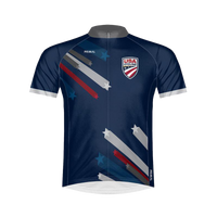 USA Cycling Stars & Stripes Men's Sport Cut Raglan Sleeve Jersey