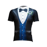 The Ritz Blue Men's Sport Cut Cycling Jersey
