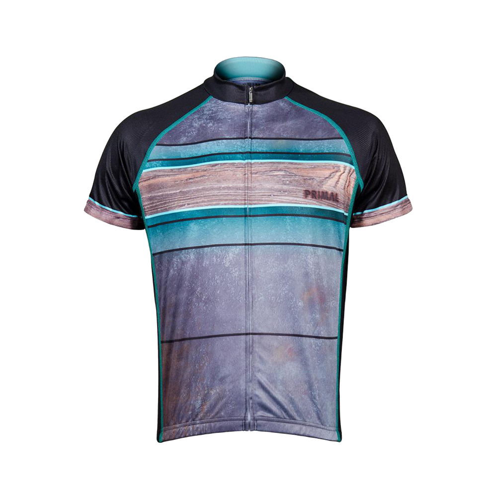 Fired Up Men's Sport Cut Cycling Jersey - Blue