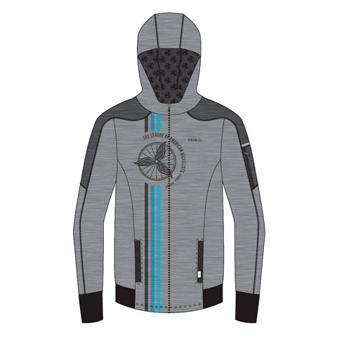 League of American Bicyclists Grey Rhapsody Hoodie