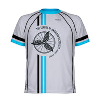 League of American Bicyclists Men's Grey Tech Top - Small Only