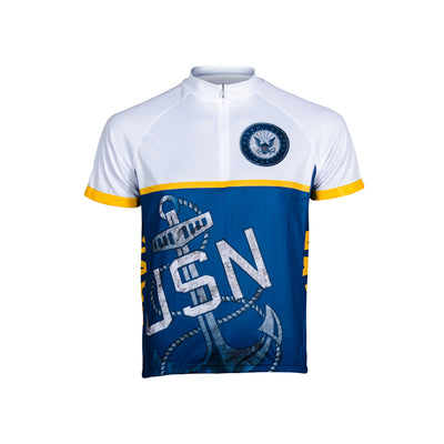 US Navy Anchor Men's Sport Cut Cycling Jersey