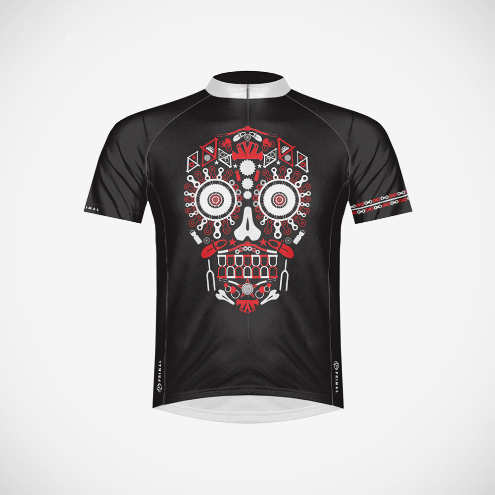 Los Muertos Red Men's Cycling Jersey - SM Only
