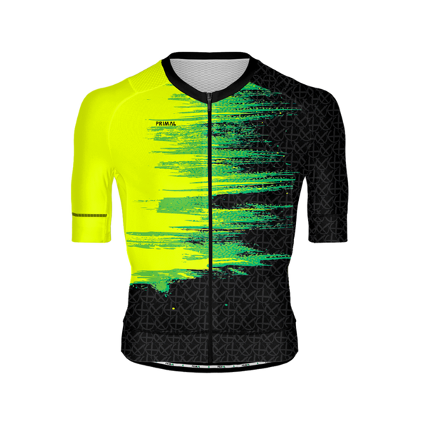 Neon Black Light Men's Equinox Cycling Jersey