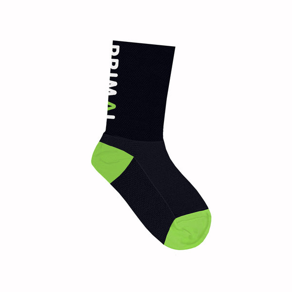 Primal Black Tall Icon Socks - Small Only