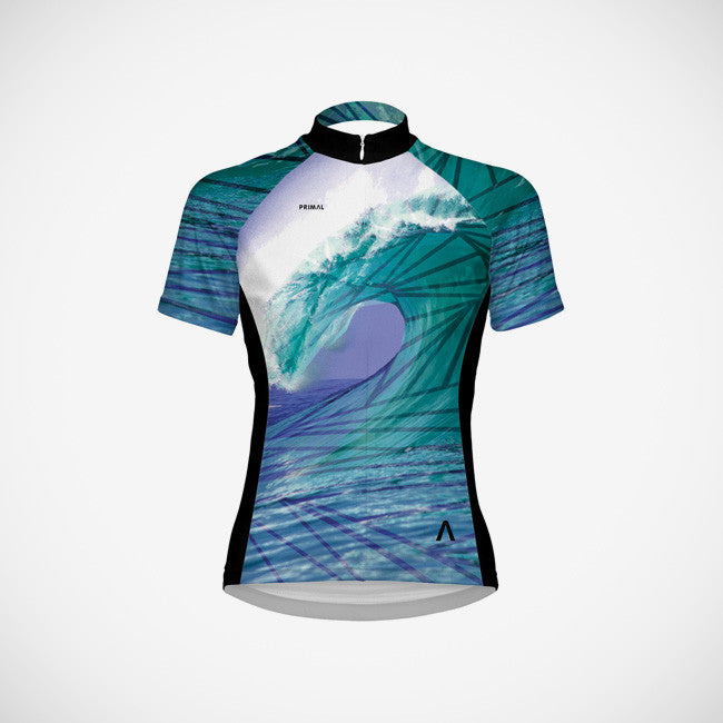 Surf's Up Women's Sport Cut Cycling Jersey