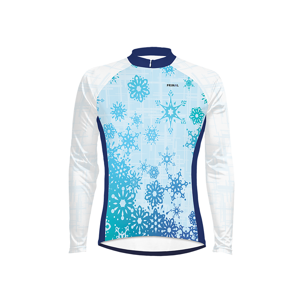 Snow Flake Men's Long Sleeve Cycling Jersey