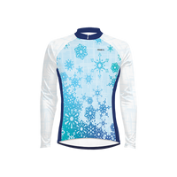 Snowflake Men's Long Sleeve Cycling Jersey