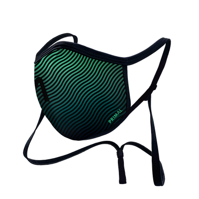 Teal Ripple Face Mask 2.0 Filter + Frame Bundle w/ Neck Strap