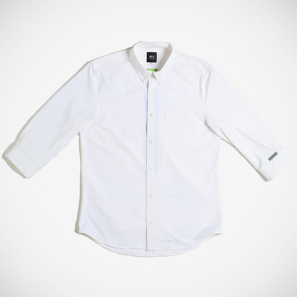 Thelonious Men's 3/4 Stretch Button Down - White