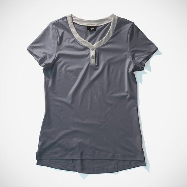 Women's Henley Charcoal
