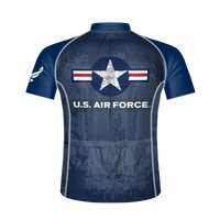 U.S. Air Force Vintage Logo Men's Sport Cut Cycling Jersey - Small Only