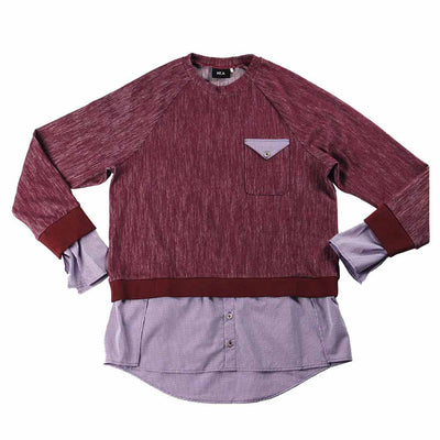 Women's Cadenza Multi-Layer Pullover - Burgundy