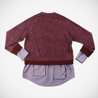 Cadenza Women's Multi-Layer Pullover - Burgundy