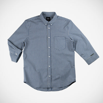 Men's Calloway 3/4 Button Down - Blue Gingham
