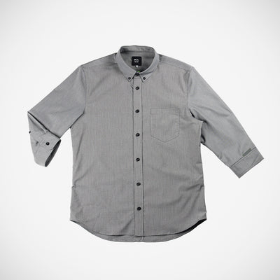 Men's Calloway 3/4 Button Down - Greyscale