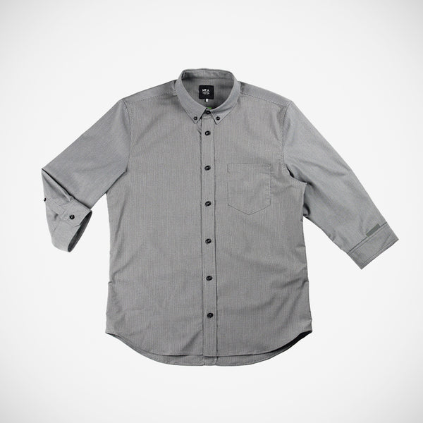 Calloway Men's 3/4 Button Down - Greyscale