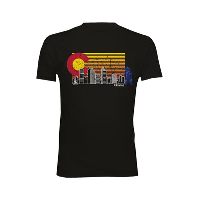 Cityscape Black Men's T-Shirt