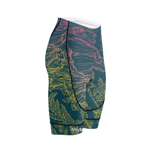 Doyenne Women's Floral Sketch Evo Shorts