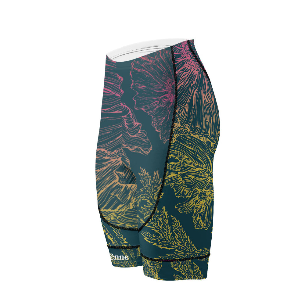 Doyenne Women's Evo Shorts - Floral Sketch