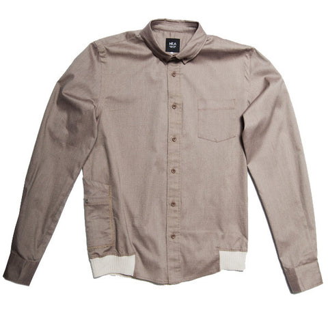 Goodman Men's Stretch Button Down - Khaki Brown