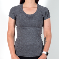 AireSpan Women's Knit Shirt Heather Grey