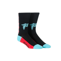 Llama Socks Teal & Red - Large Only