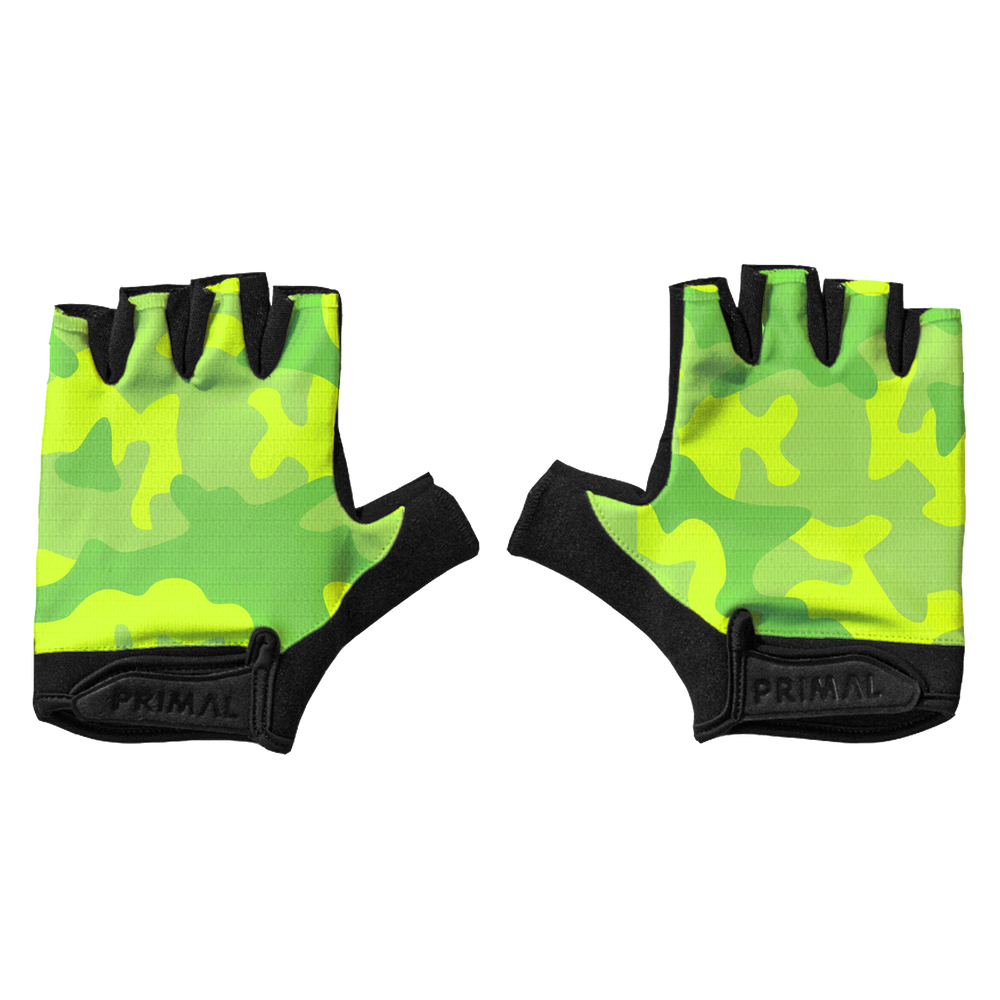 Neon Camo Short Finger Gloves
