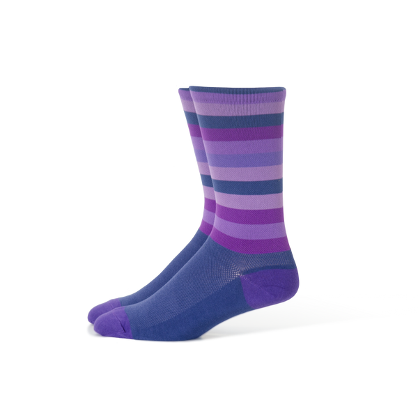 Purple Stripe Socks - Large Only