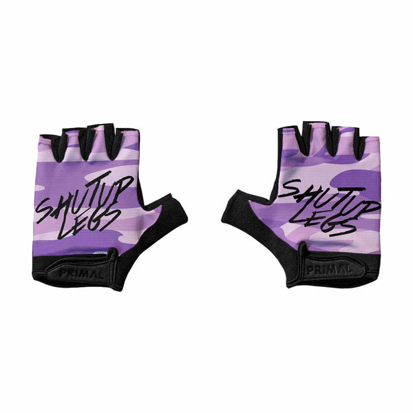 SUL Purple Camo Short Finger Gloves