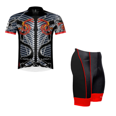 Samurai Dragon Men's Sport Cut Cycling Jersey