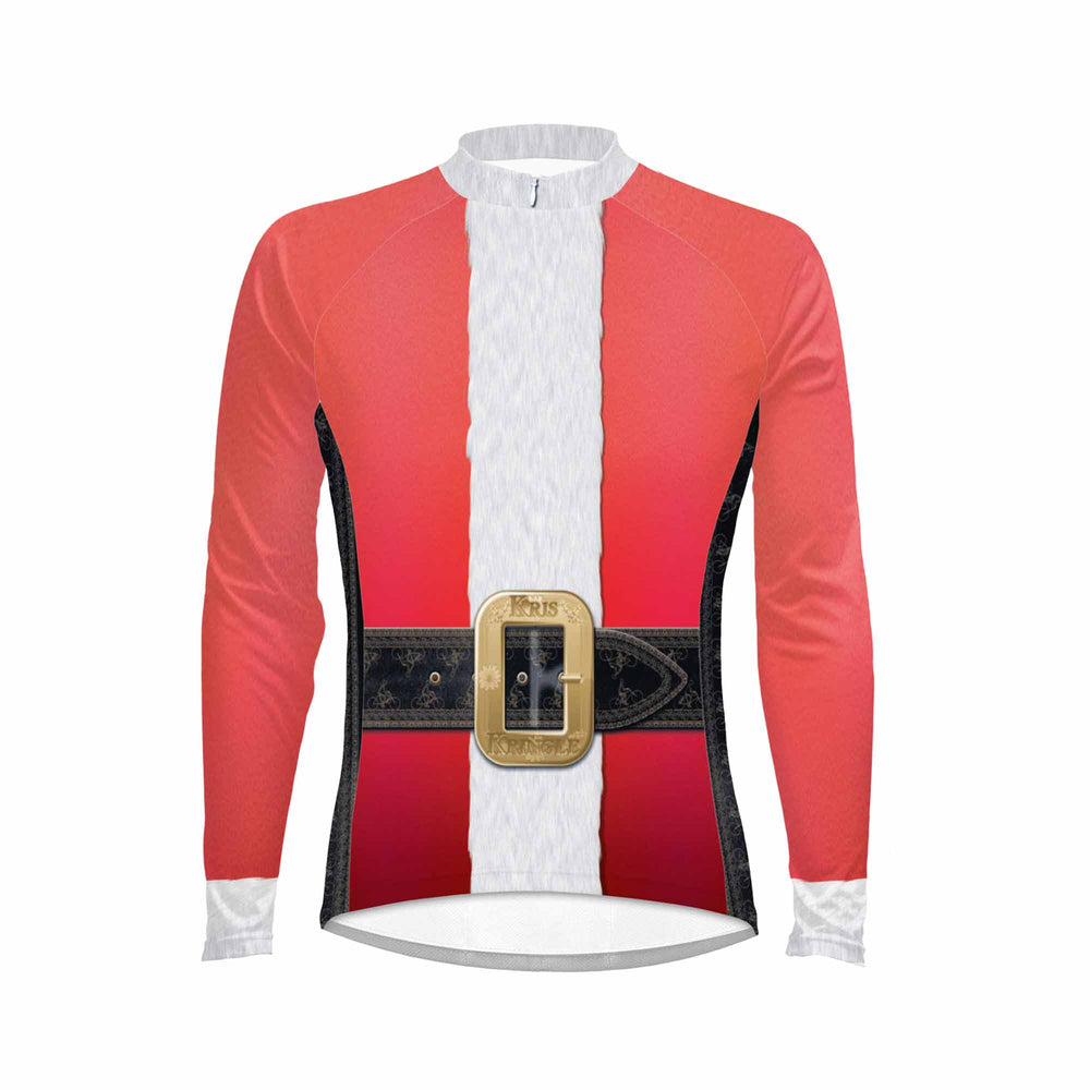 Santa Suit Men's Long Sleeve Cycling Jersey