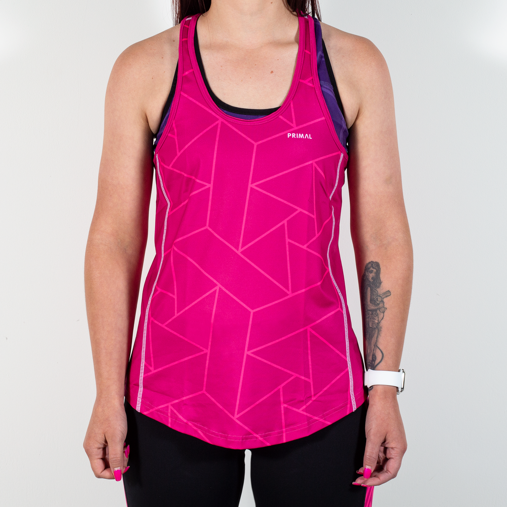 Women's Pink Spin Active Tank
