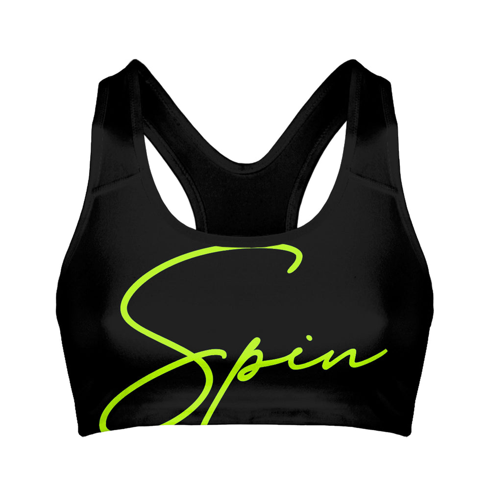Surge Neon Green Spin Sports Bra