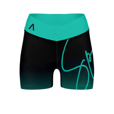 "Teal Ripple 3"" Envia Spin Shorts"