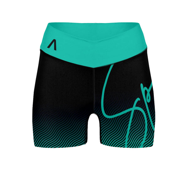 "Teal Ripple 3"" Envia Shorts"