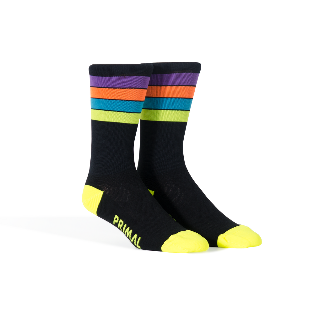 Neon Rainbow Socks