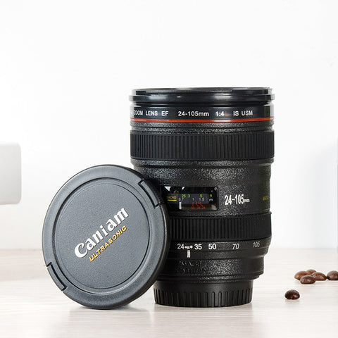DSLR CAMERA LENS COFFEE MUG WITH LID