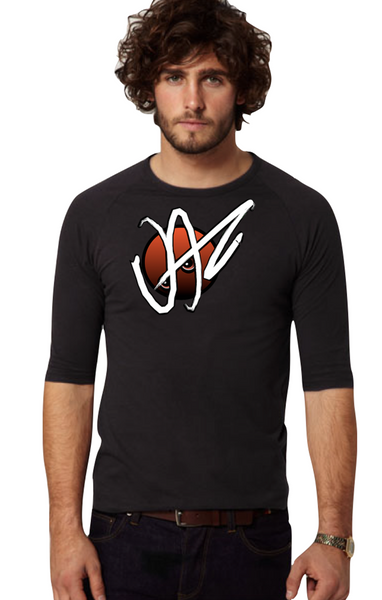 Men's Raglan Shirt / Jaz-Brand Logo Graphic Design By Jazart Rex - Jazart Store