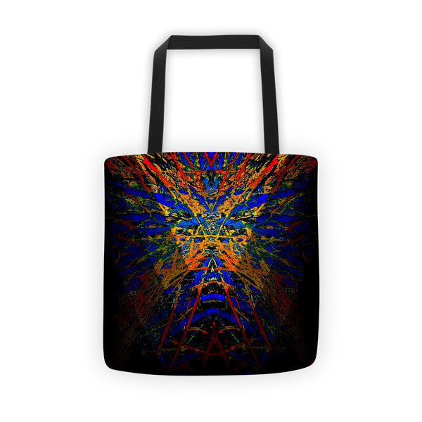 Fashion Tote Bag / Dark Star Burst Series Graphic. By Jazart - Jazart Store