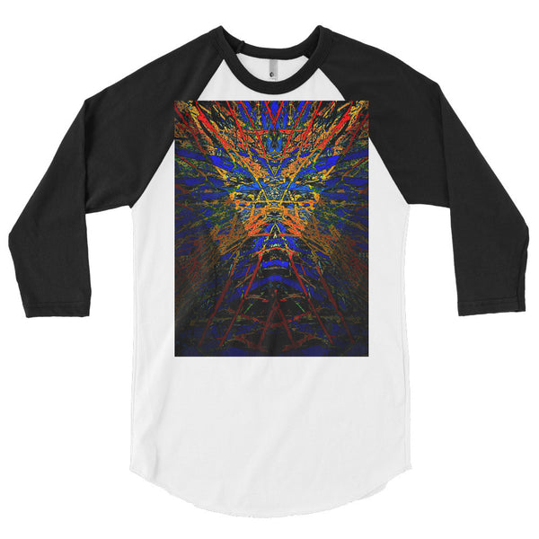 Raglan Shirt (unisex)/ Dark Star Burst Series By Jazart Rex - Jazart Store