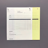 "Carbonless NCR Forms Printing 2-Part 8.5""x11"" 2-Side Grayscale - NCR Print Canada"